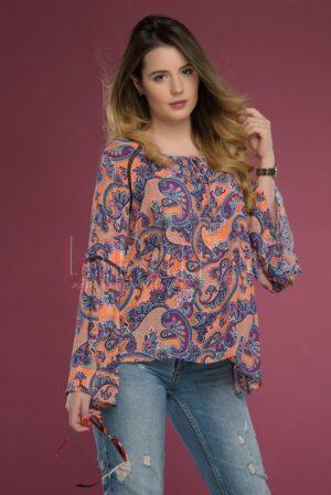 Bluza lejera cu imprimeu coloratBLUZE