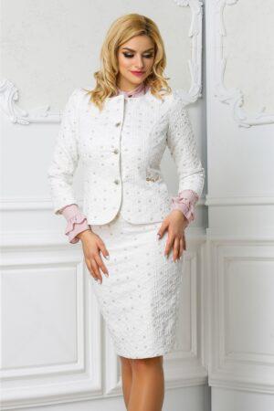Compleu Leonard Collection alb de ocazie elegantCompleuri