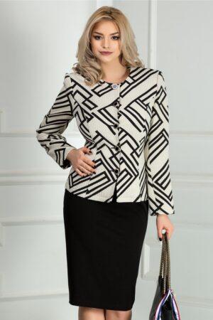 Compleu dama alb cu fusta neagra officeCompleuri