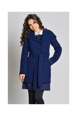 Palton dama bleumarin cu glugaPaltoane
