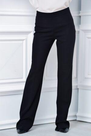 Pantalon Brise negru lung evazat lejerPantaloniNegru