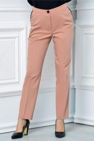 Pantalon Moze office slim roz prafPantaloniRoz