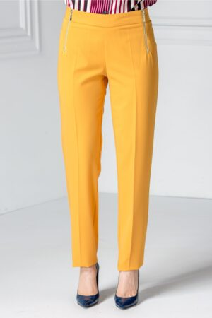Pantalon Narcisa galben officePantaloniGalben