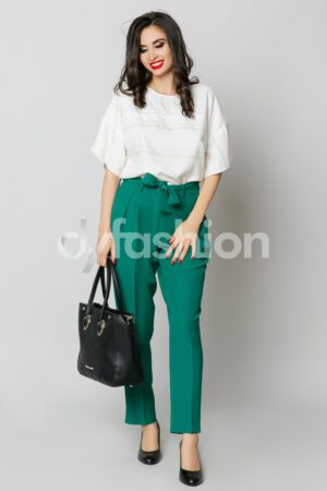 Pantaloni Enido Verde Office ElegantPantaloniVerde