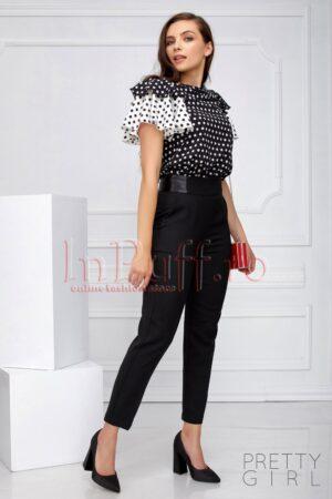 Pantaloni cu talie inalta Pretty Girl negriPANTALONI  COLANTI