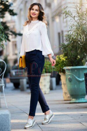 Pantaloni dama bleumarin din bumbacPANTALONI  COLANTI
