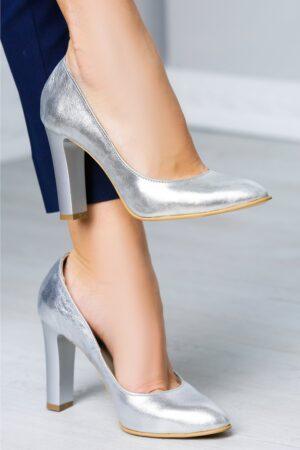 Pantofi Arabela argintiu de ocazieIncaltaminteArgintiu