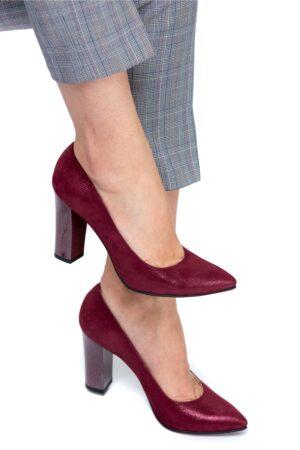 Pantofi Ceren bordo sidef de ocazieIncaltaminteBordo