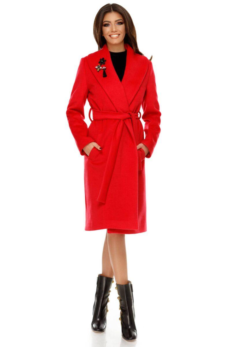 palton cezara rosu deschis 6