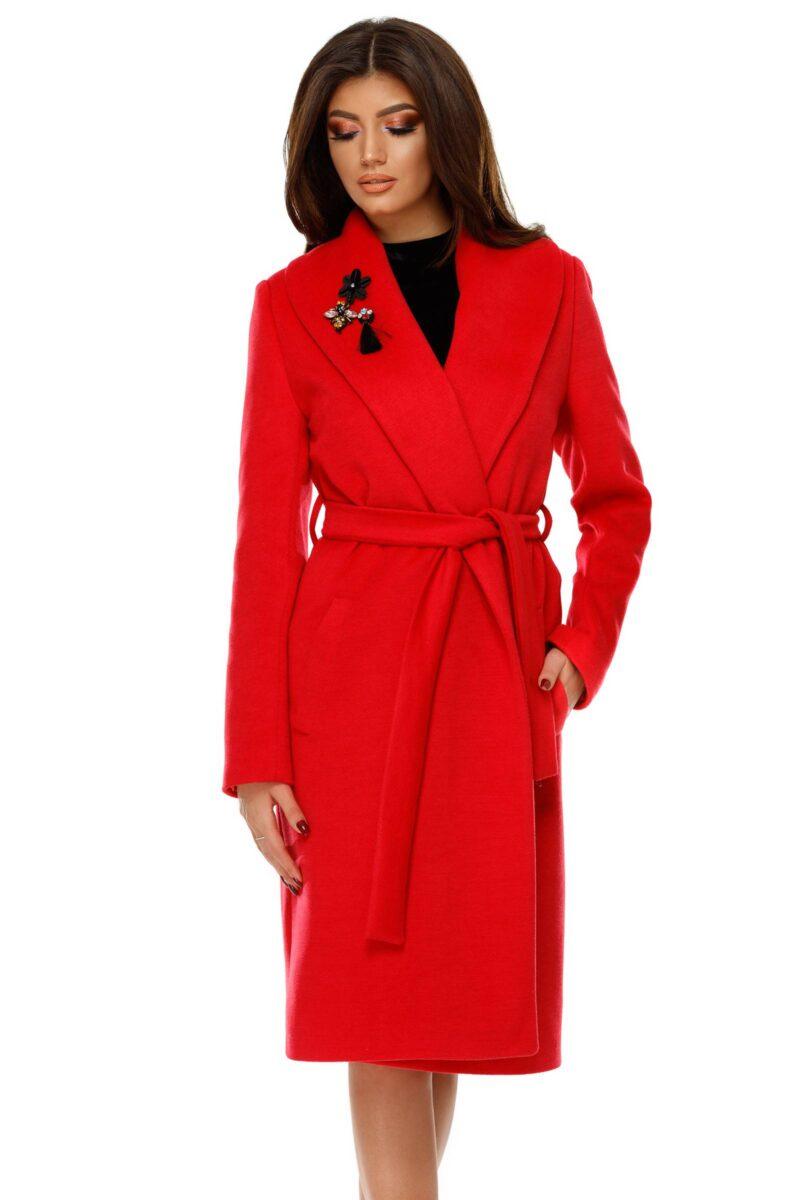 palton cezara rosu deschis 7
