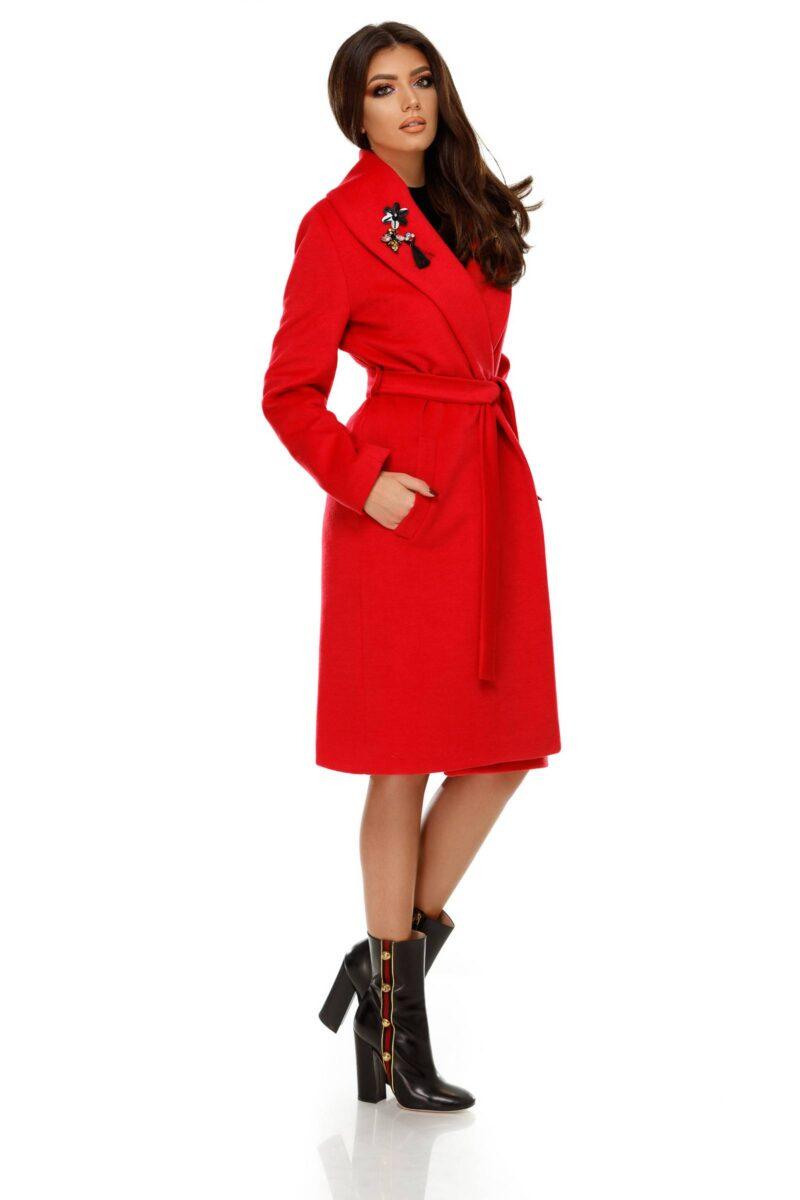 palton cezara rosu deschis 8