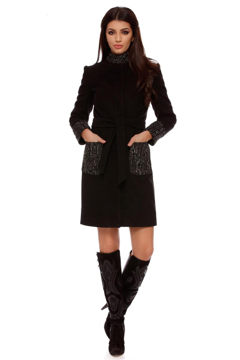 palton gabrielle negru 6