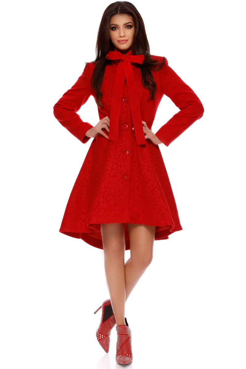 palton sidonia rosu 6