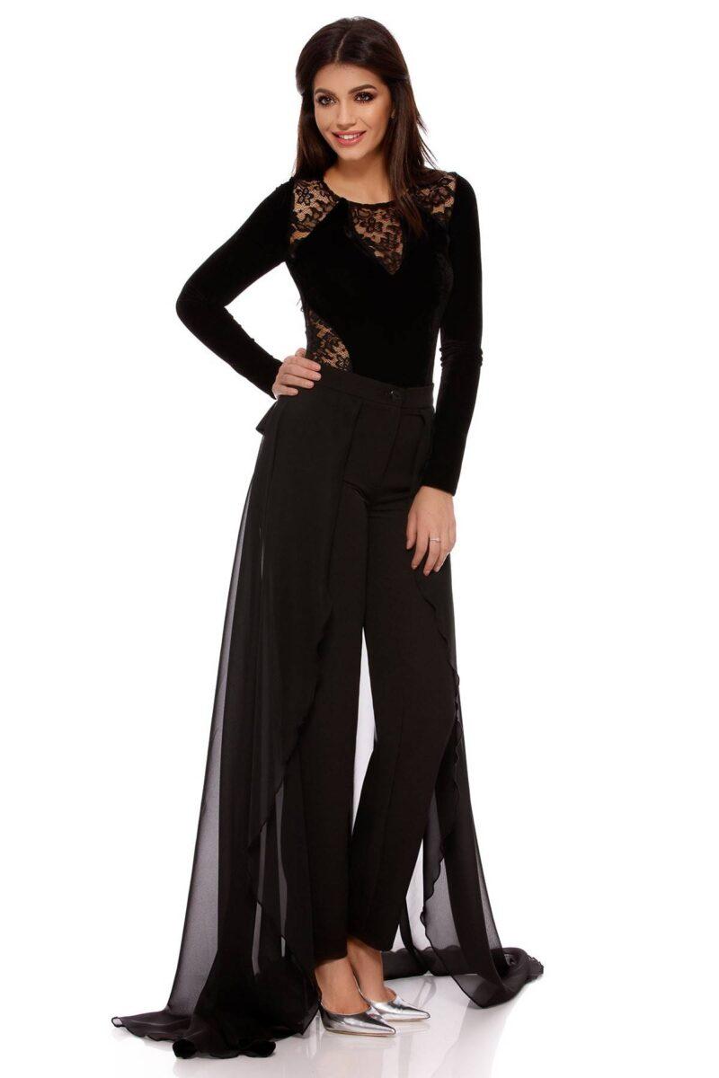 pantalon amaris negru 7