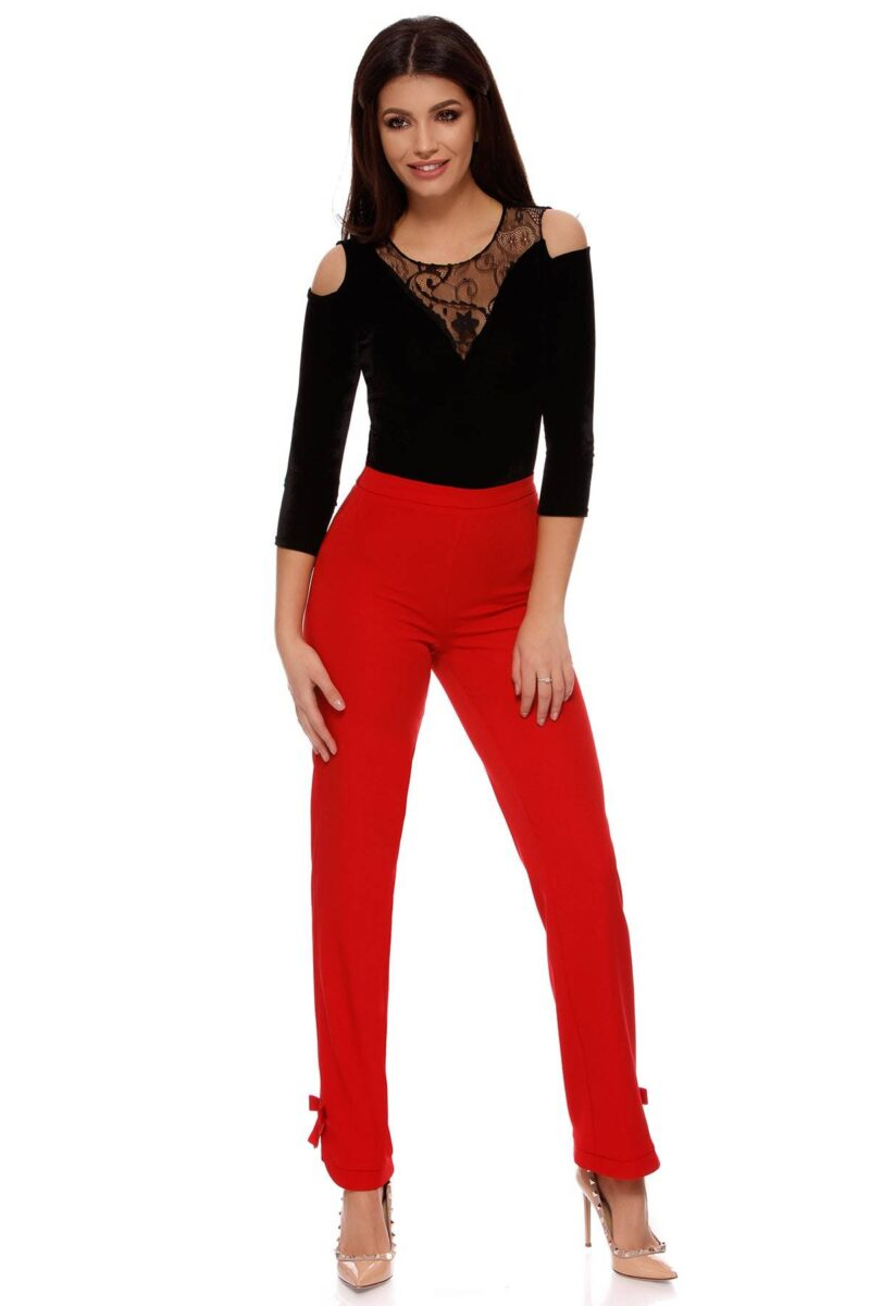 pantalon melanie rosu 7
