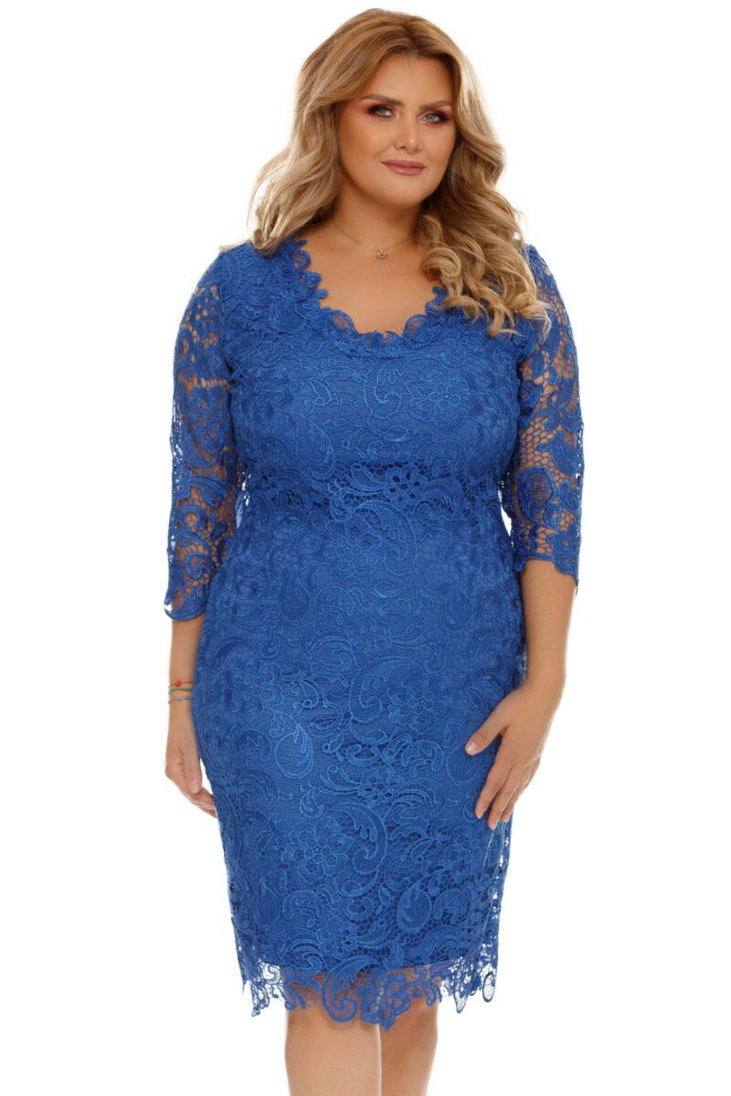 rochie albastra plus size arella 8 scaled