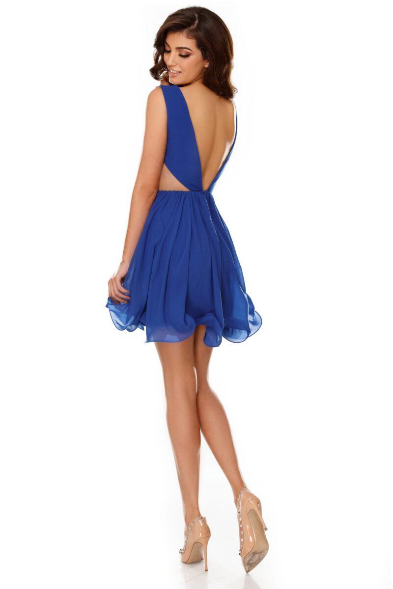 rochie eleganta scurta albastra din voal timea 4 scaled