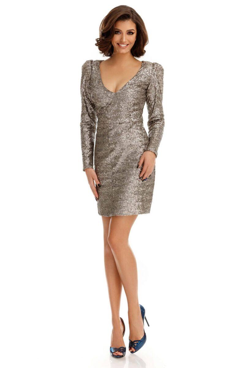 rochie marta argintie 1 scaled