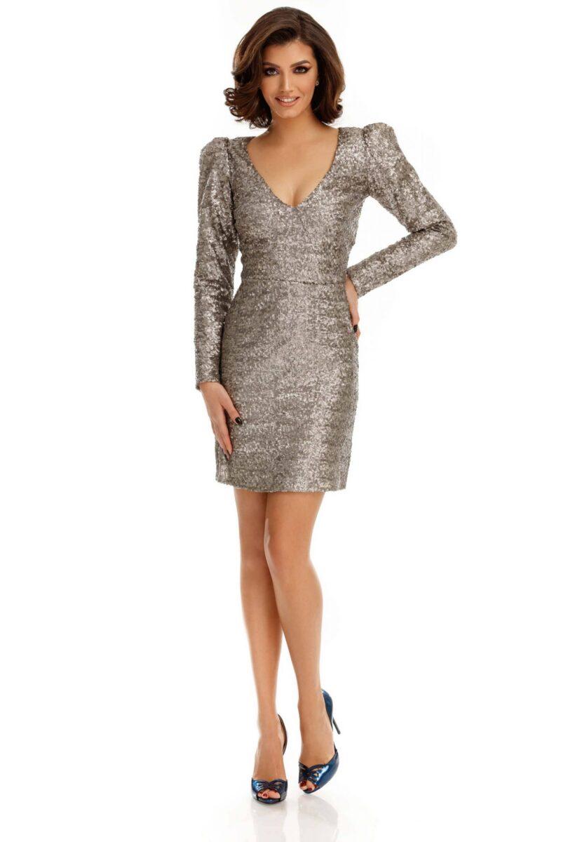 rochie marta argintie scaled