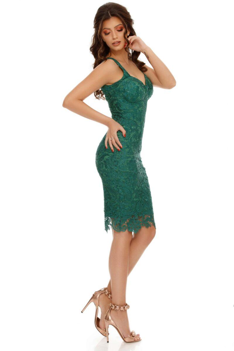 rochie midi dantela paiete verde smarald ella 5 scaled