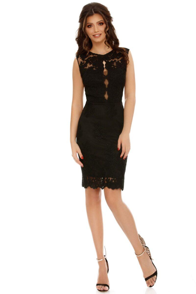 rochie midi neagra conica dantela pretioasa ingrid 5 scaled