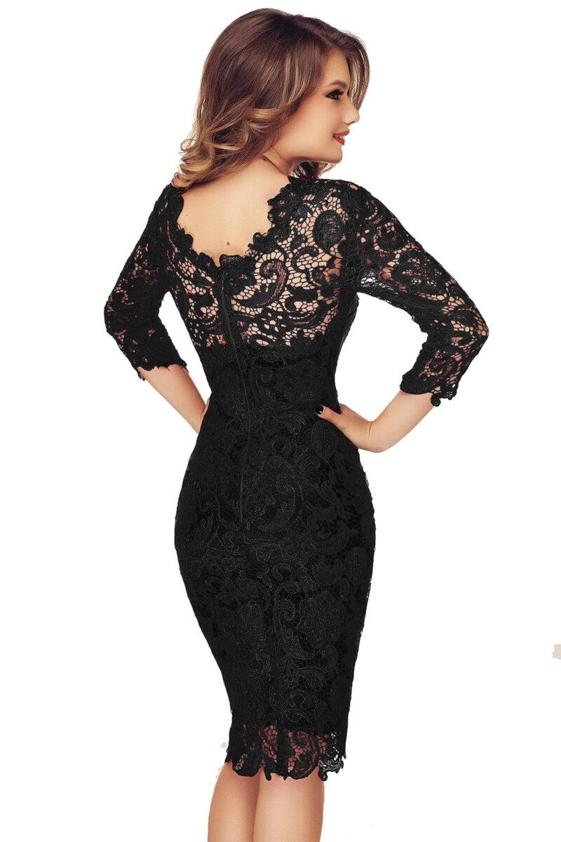 rochie neagra eleganta din dantela noelle 5