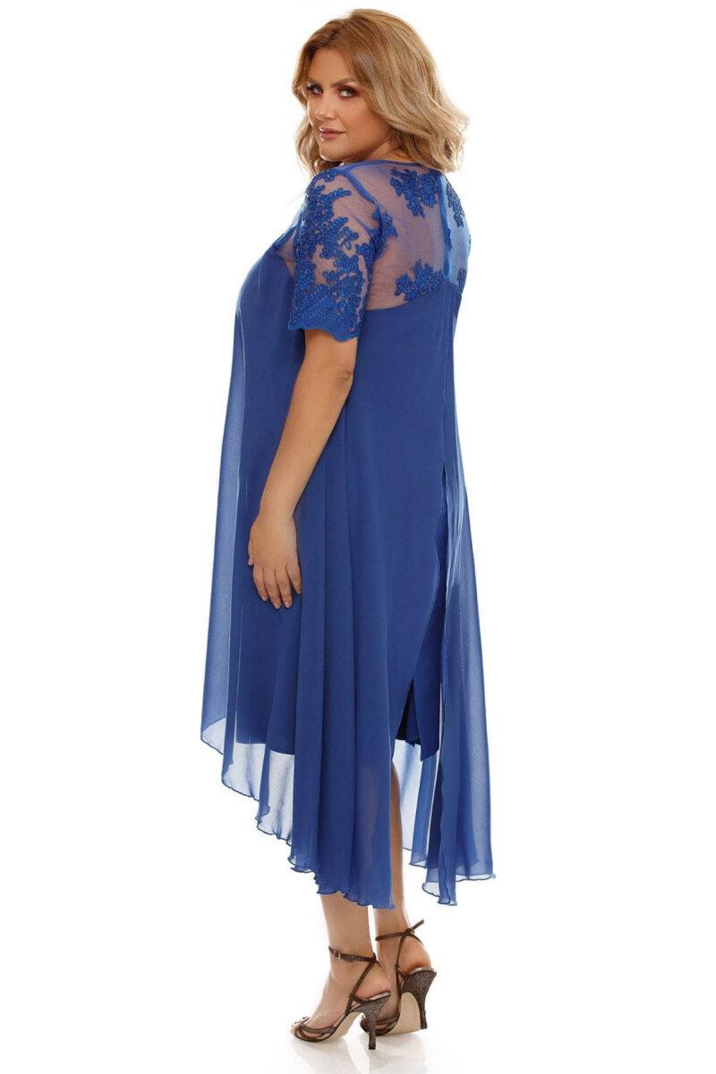 rochie plus size crina albastra 4