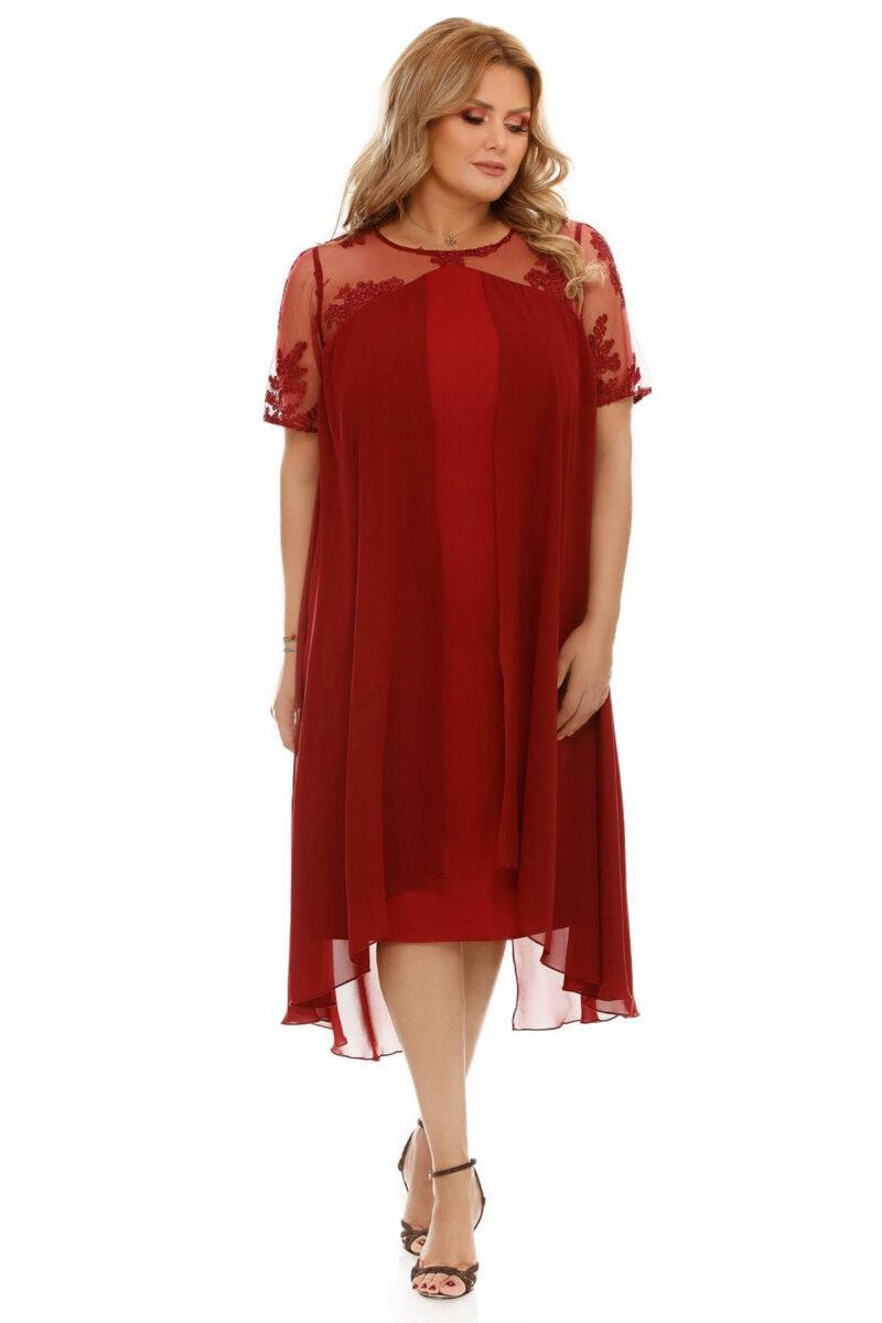 rochie plus size crina bordo 4