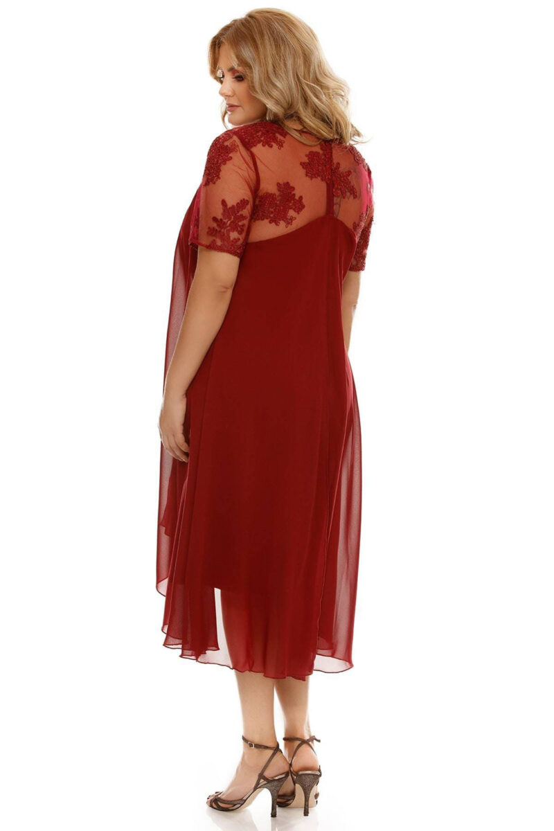 rochie plus size crina bordo 5
