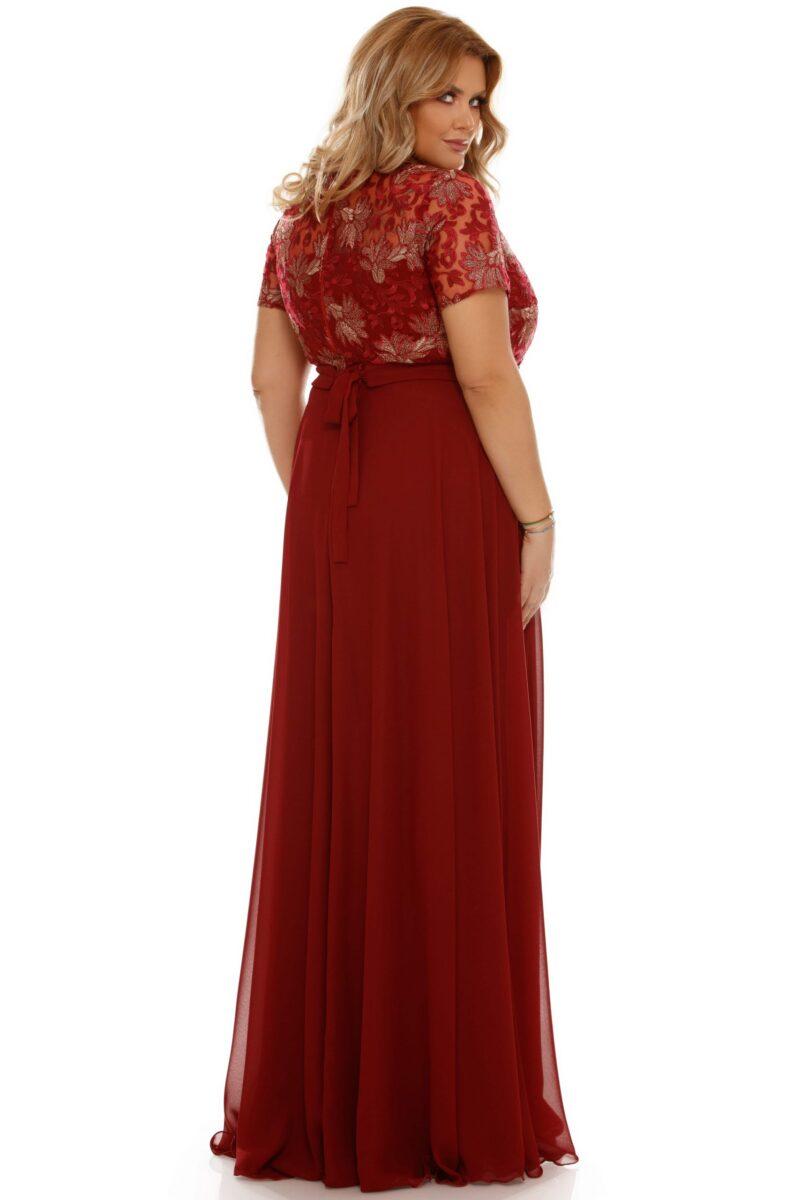 rochie plus size estela bordo 8 scaled