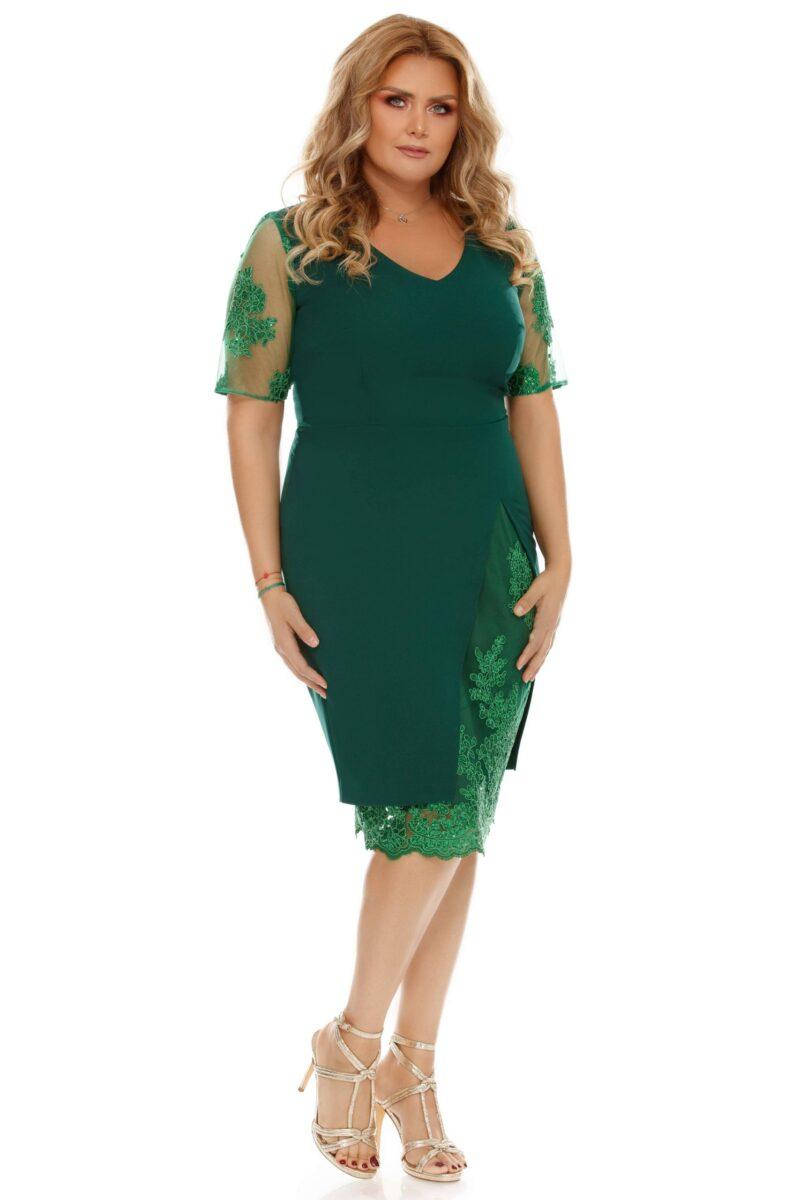 rochie plus size felicia verde 7 scaled