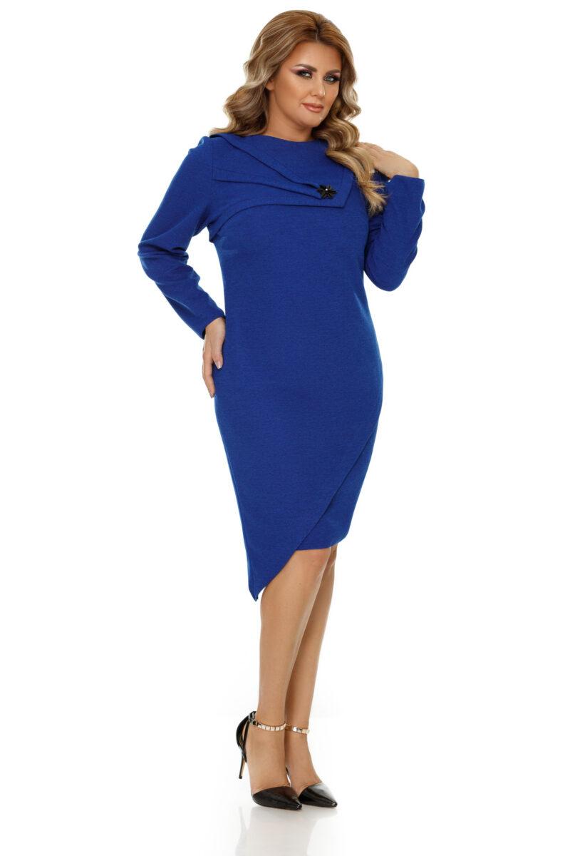 rochie plus size frida albastra 6
