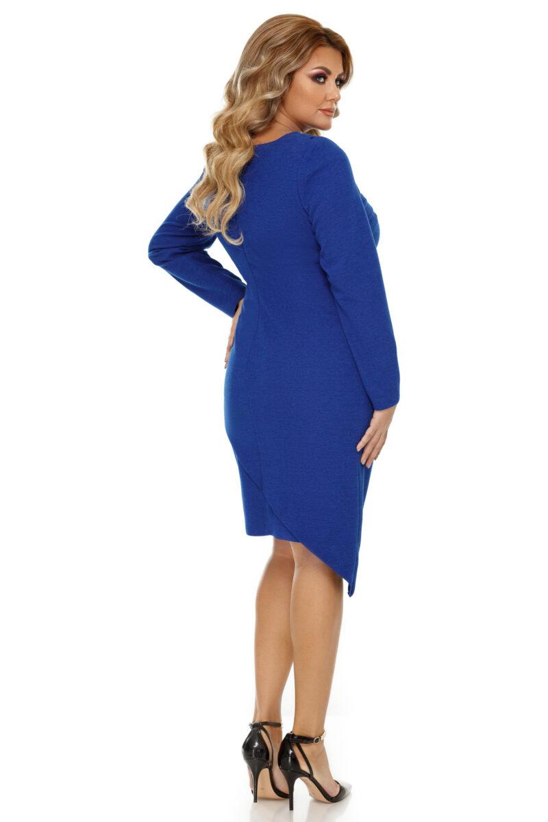 rochie plus size frida albastra 8