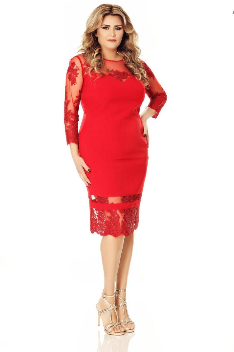 rochie plus size gratiela rosie 6