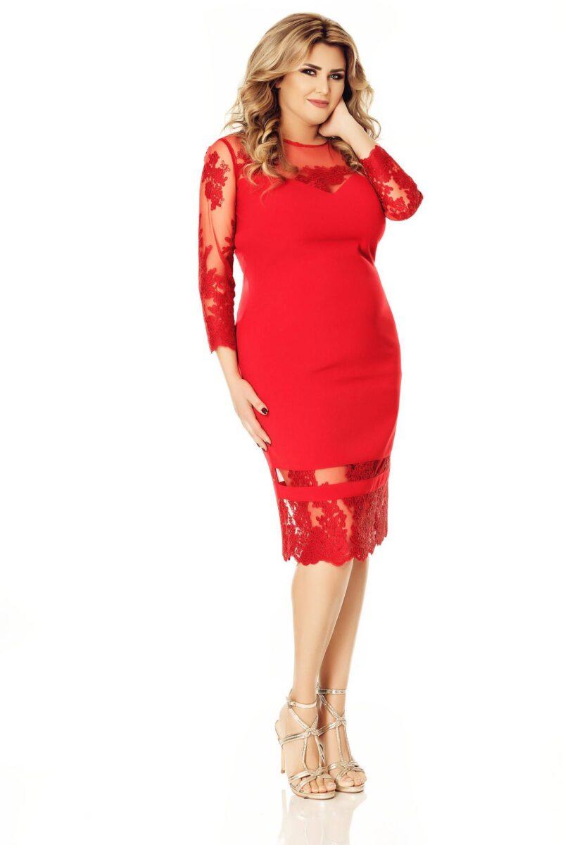 rochie plus size gratiela rosie 8