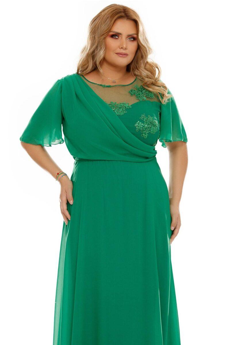 rochie plus size helen verde 3