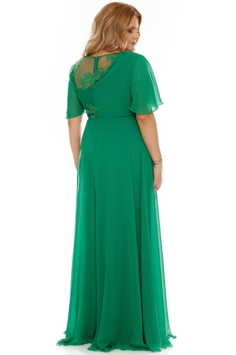 rochie plus size helen verde 4