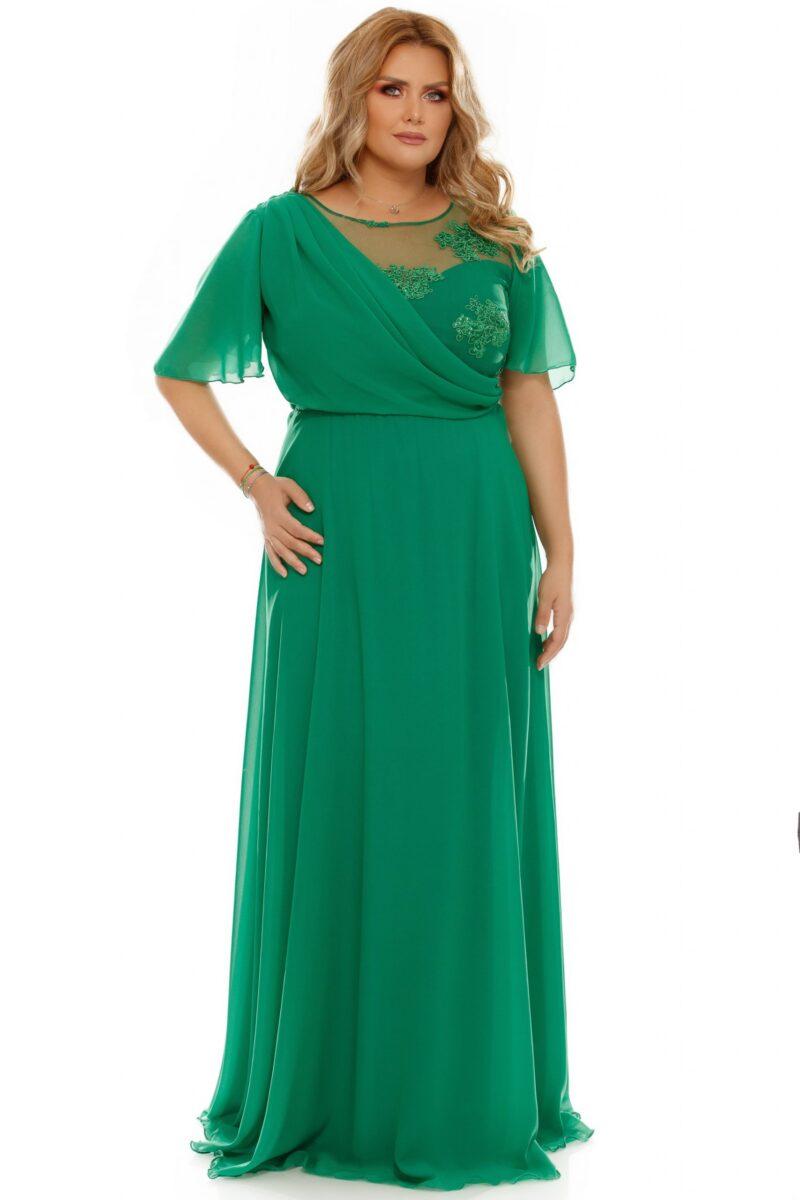 rochie plus size helen verde 5 scaled