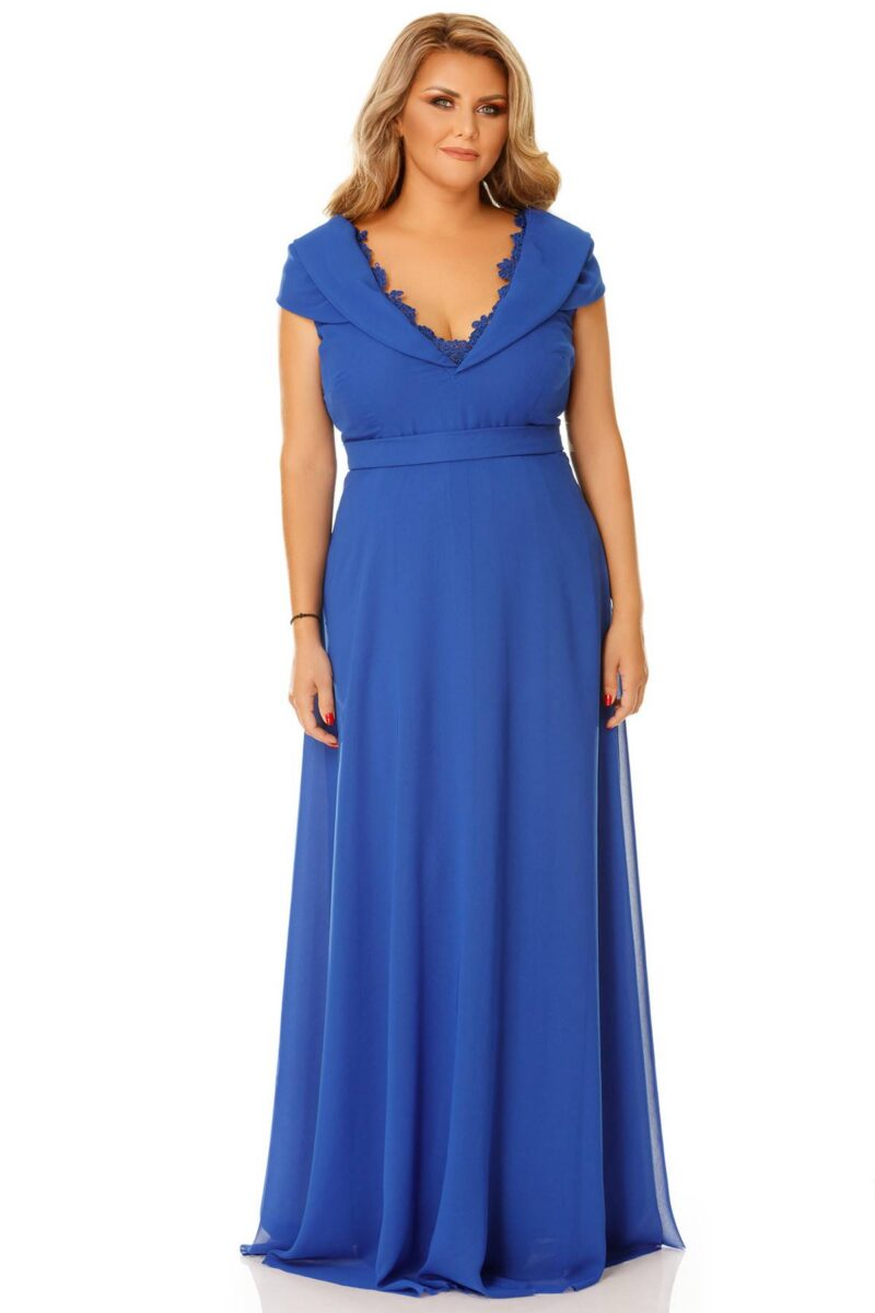 rochie plus size lena albastra 6