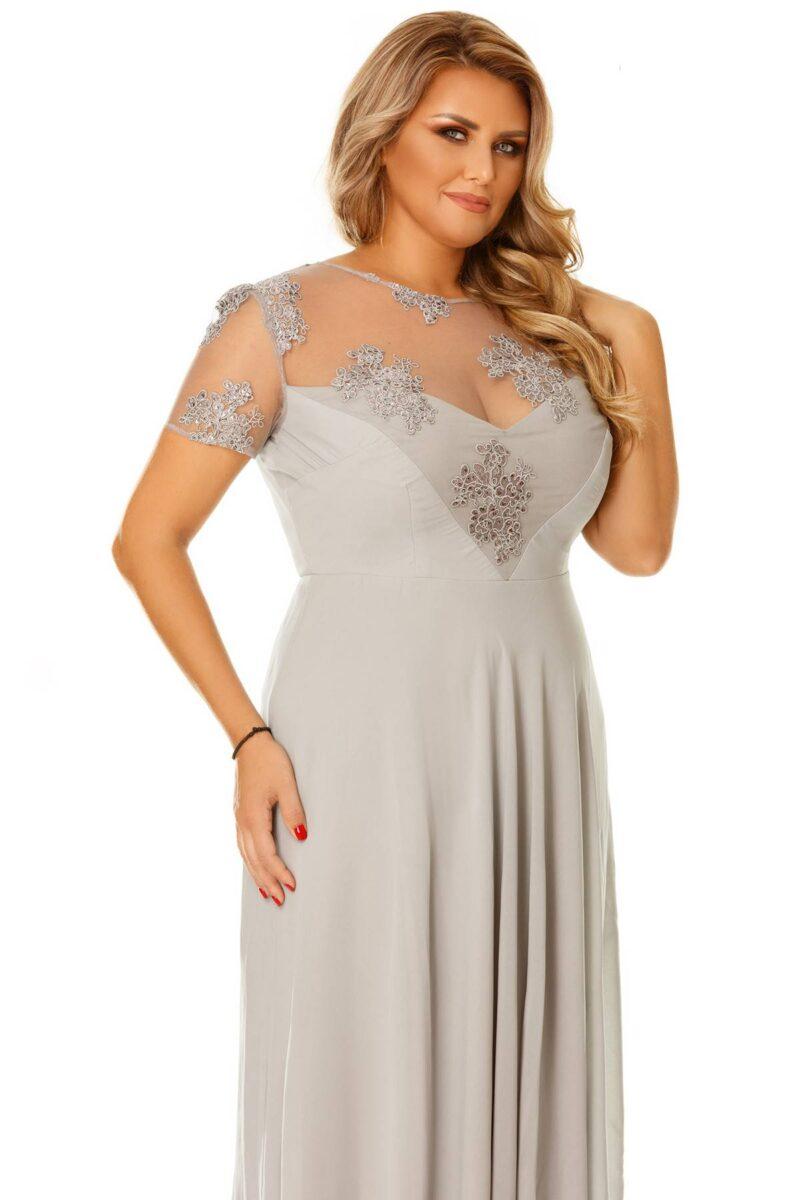 rochie plus size lia gri 6