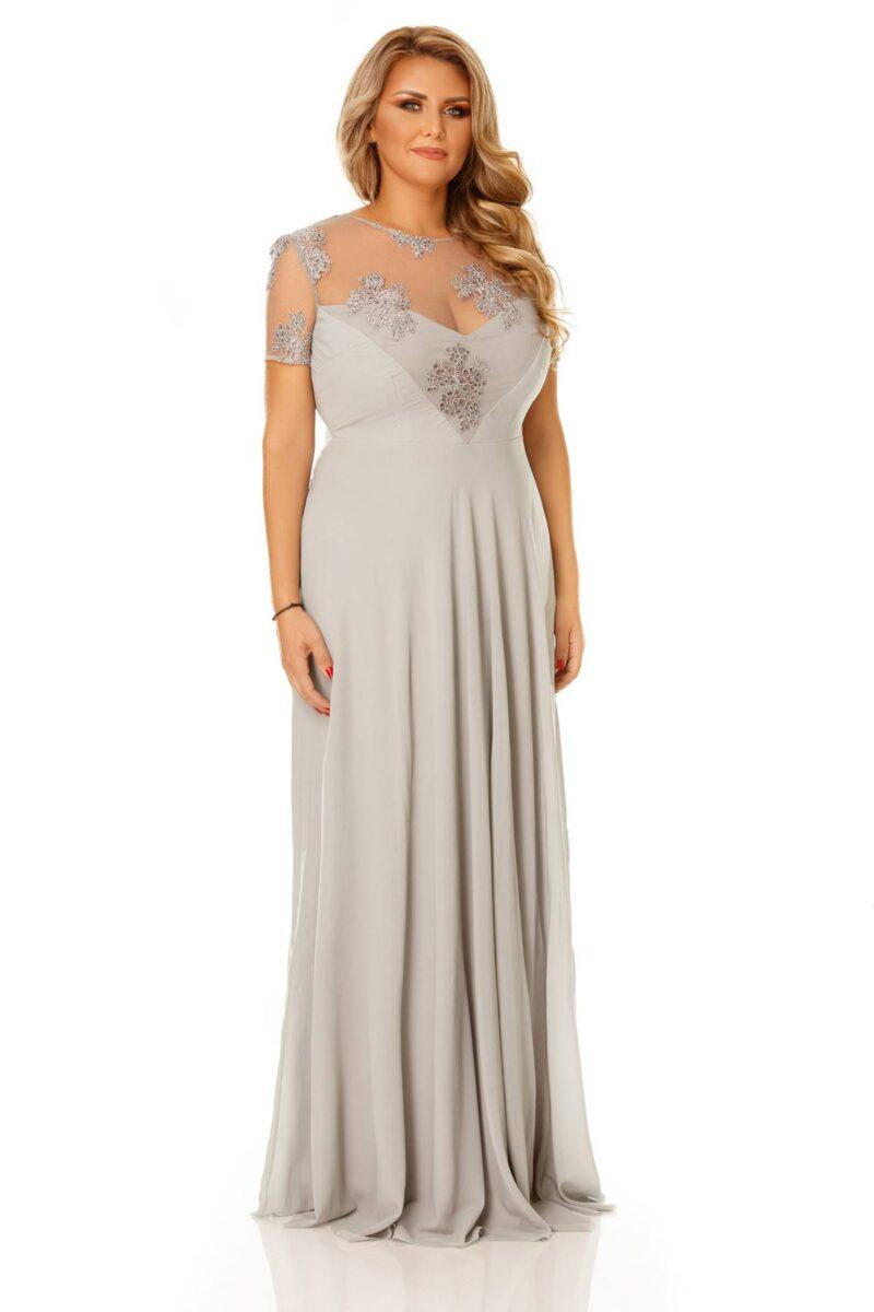 rochie plus size lia gri 8