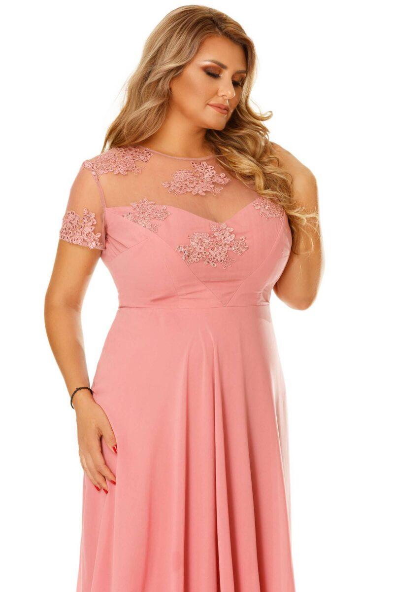 rochie plus size lia roz pudra 7