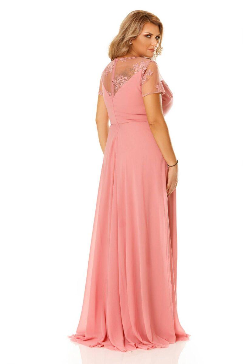 rochie plus size lia roz pudra 8