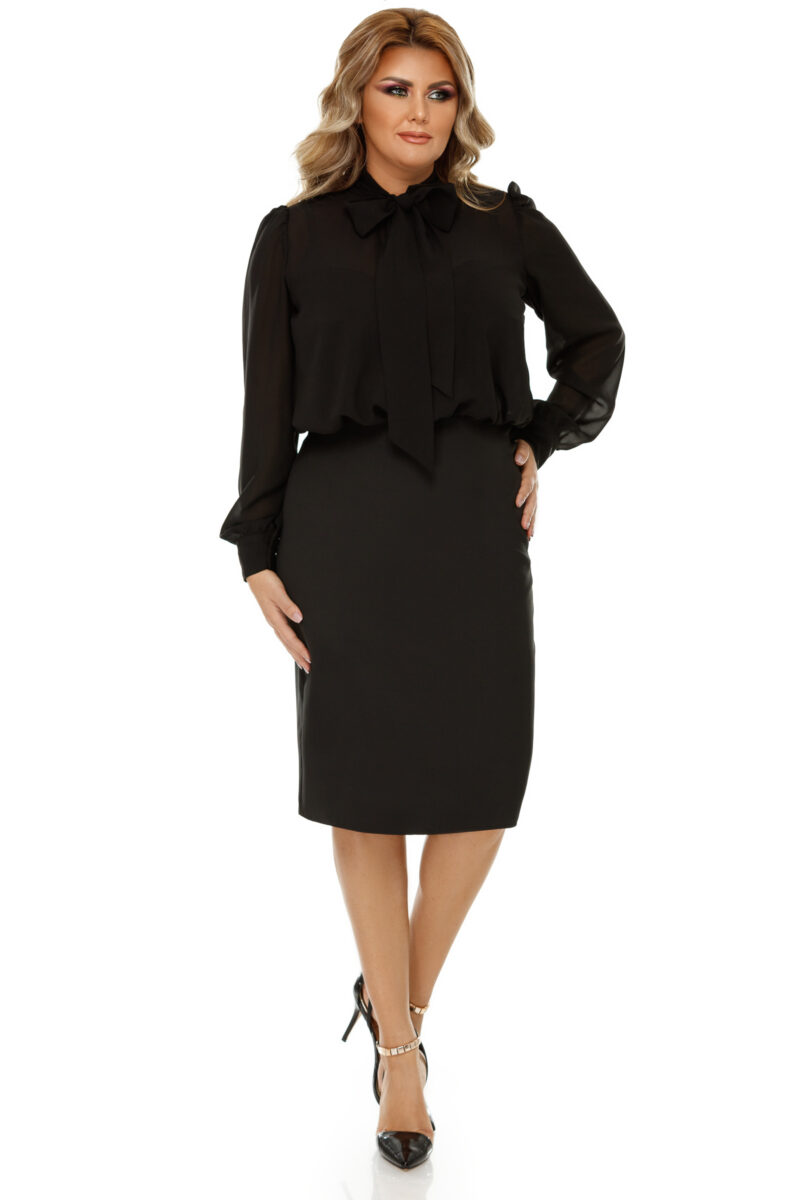 rochie plus size livia neagra 6
