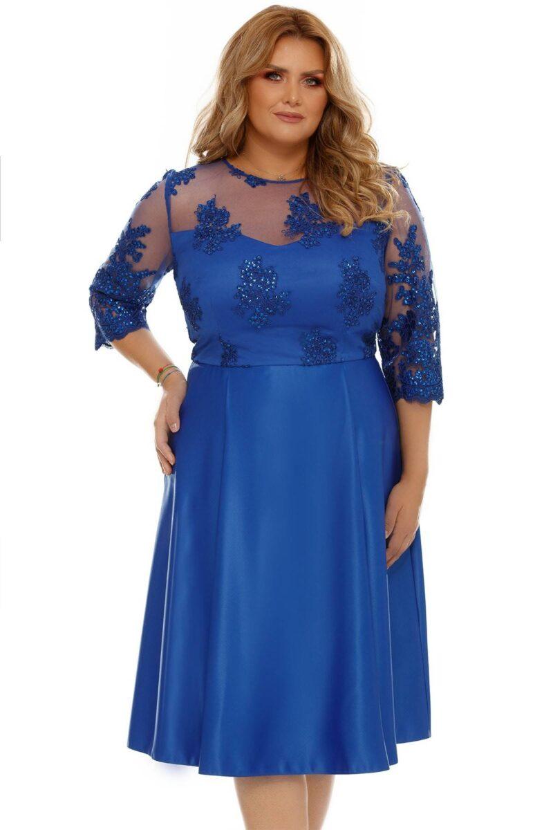 rochie plus size neli albastra 3