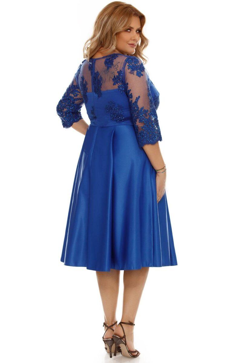 rochie plus size neli albastra 4