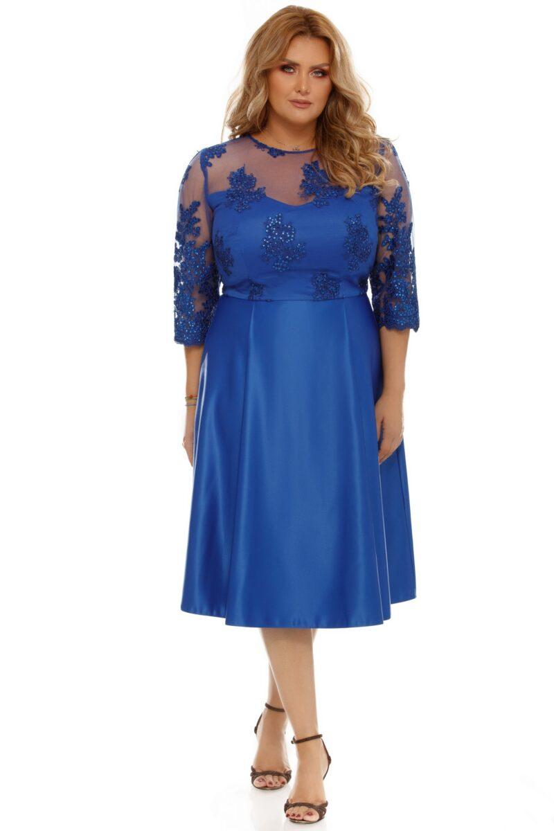 rochie plus size neli albastra 5 scaled