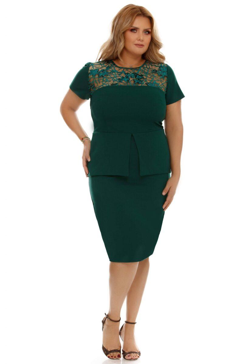 rochie plus size perla verde 4 scaled