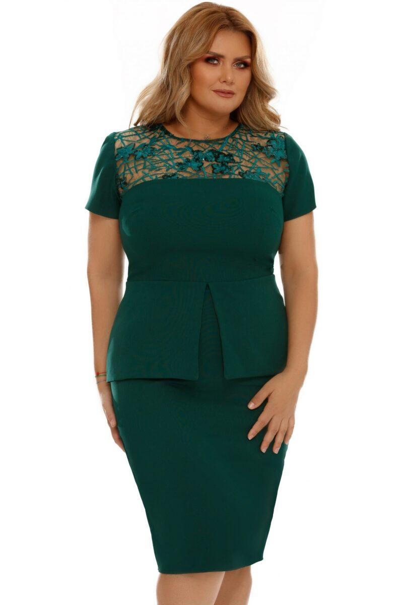 rochie plus size perla verde 6 scaled