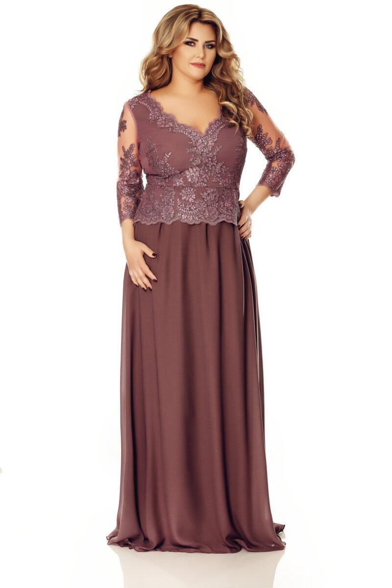 rochie plus size rose 6